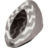 SnooZZy Hide and Seek Plush Tan Zig Zag Pet Bed