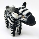 SteelDog Ruffian Zebra Dog Toy Premium Tough Plush