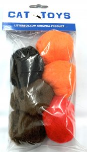 "Litterboy 2"" Soft Fiber Play Balls 6 Per Pack"