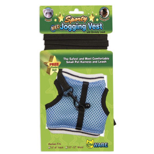 Sporty Jogging Vest Mesh Harness & Lead for Small Animals