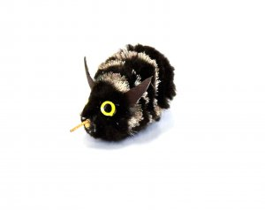 Bee - Black Wool & Deer Hair